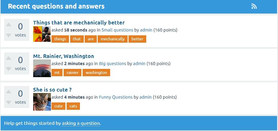Q2A thumbnail in question list