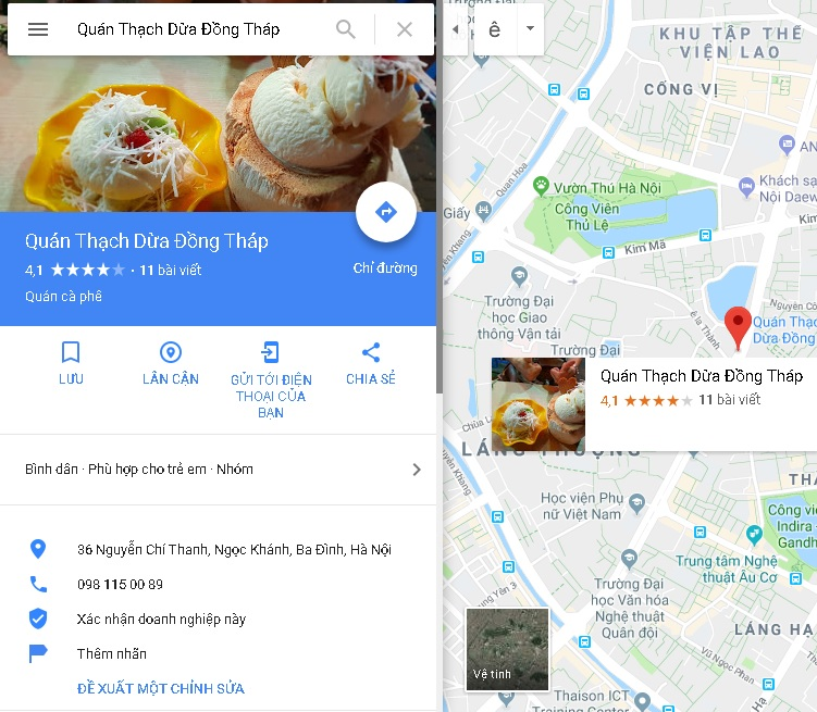 Remove Address and Phone from Google Maps - o I'm Long on