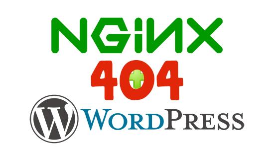Error 404 on Wordpress nginx