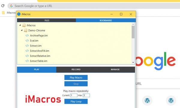 iMacros Automation Tool